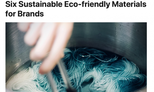 SIX SUSTAINABLE ECO-FRIENDLY MATERIALS